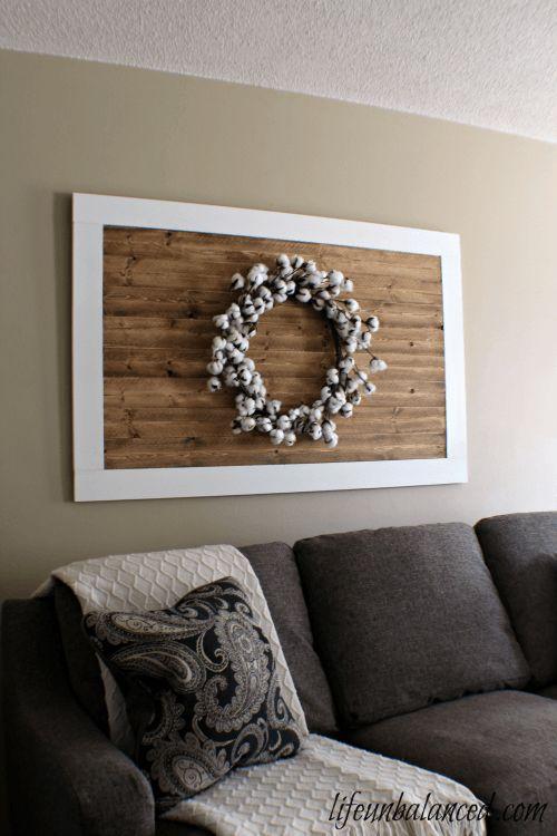 DIY Wood Plank Wreath Frame Farmhouse Style