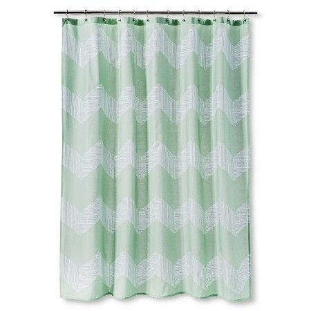Green Chevron Shower Curtain Green White Chevron Print Shower