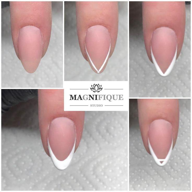 "78 Likes, 3 Comments - Magnifque Studio (@magnifique_studio_indigo_nails) on Instagram: ""Easy shape Cover + Sugar Effekt gel. #frenchnails #frenchmanicure #french #manicurefrancuski…"""