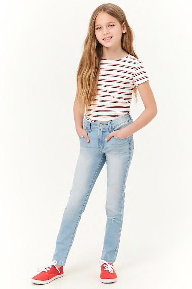 Girls Distressed Skinny Jeans (Kids) in 2020   Tween fashion