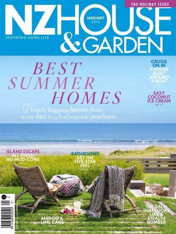 Nz House & Garden January 2016 Issue-Best Summer Homes  #NZHouseandGarden #HomeDesign #SummerHomes #ebuildin