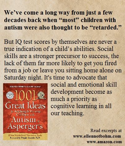 1001 Great Ideas for Teaching and Raising Children with Autism: Social/emotional skill development must    become as much a priority as cognitive    learning in all our teaching.