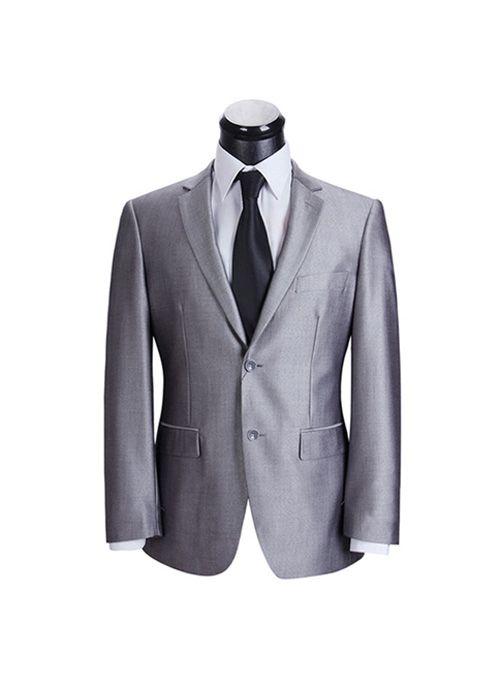 Armani fine suits on sale Mens Business 2 Button 2 Piece Suit Concrete Grey