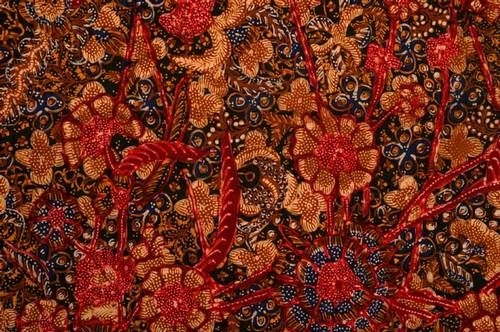 Batik Tulis (hand drawn) cotton cloth from Lasem, Java.