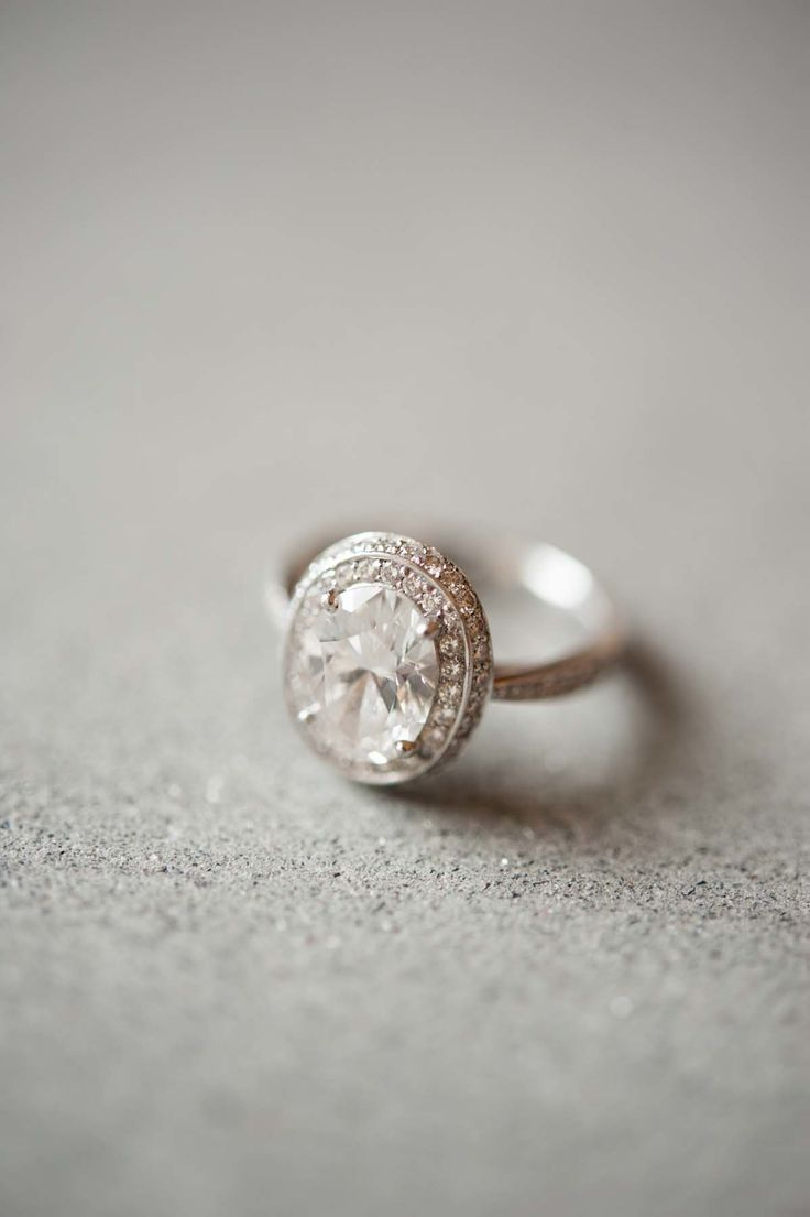 Engagement Ring - On http://www.StyleMePretty.com/destination-weddings/italy-weddings/2014/04/03/american-scottish-destination-wedding-in-tuscany/ Photography: MagnusBogucki.com