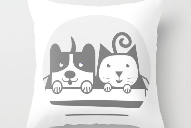 my Pets in THROW PILLOW COVER