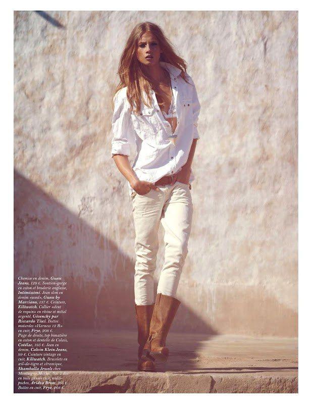 Анна Селезнева для Vogue Paris, Апрель 2012.