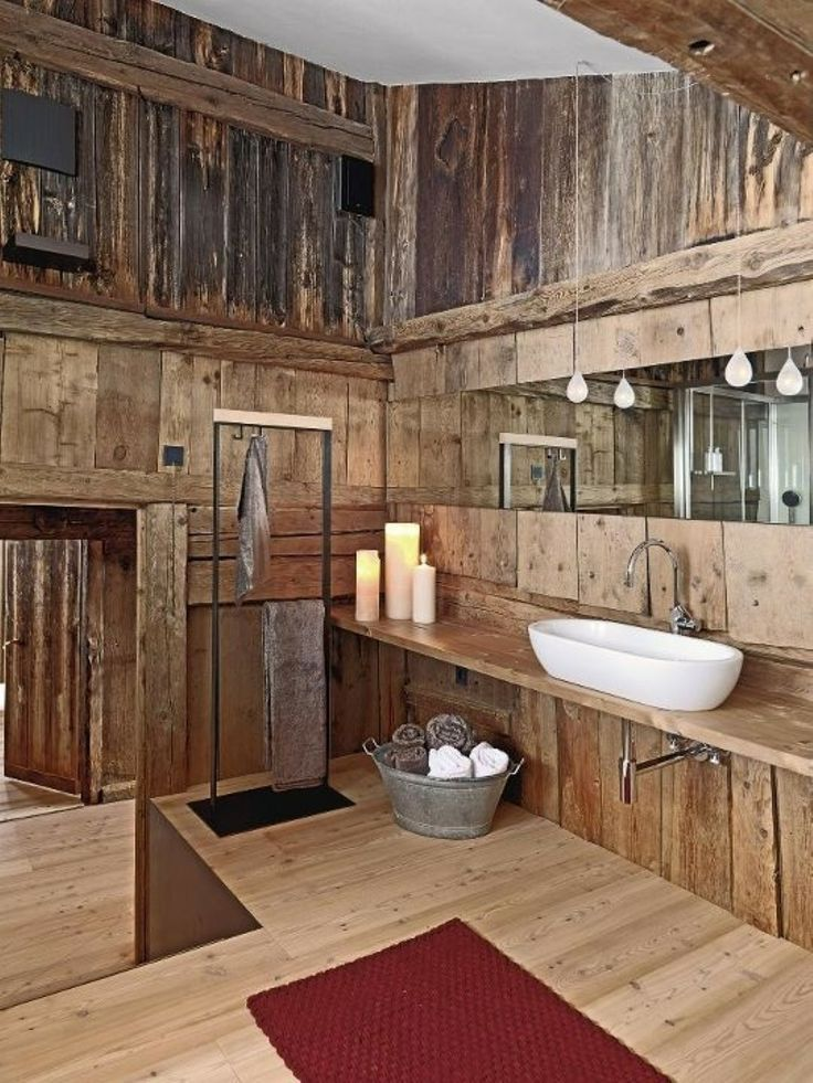 Rustic Bathrooms With Wainscoting: Rustic / Western / Primitive