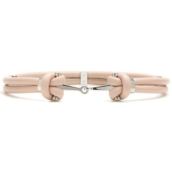 Alexander McQueen Embellished Leather Belt (€295) ❤ liked on Polyvore featuring accessories, belts, neutrals, alexander mcqueen, embellished belt, leather belts and alexander mcqueen belt