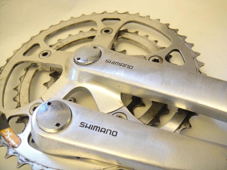 #Deore XT FC-M730 crank set retro mountain bike part - All Things Bikes Like, Repin, Share, Follow Me! Thanks!