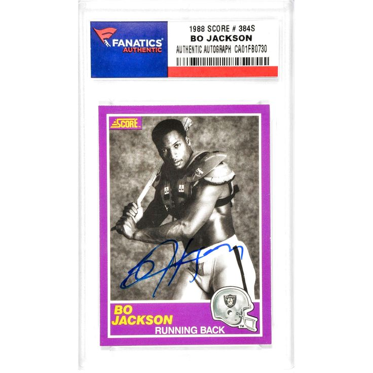 Bo Jackson Los Angeles Raiders Fanatics Authentic Autographed 1988 Score #384S Card - $135.99
