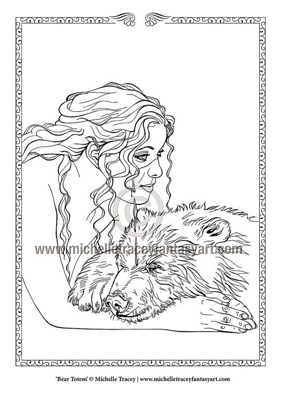 779 best Fantasy Coloring Pages for Adults images on Pinterest