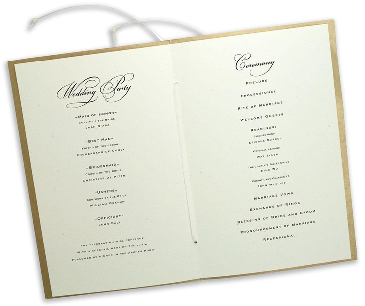 26 best Wedding Invitations, Programs and Thank You cards images - wedding program inclusions