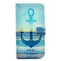 Anchor Things - SuperMore YX Excellent Pattern Holster for Motorola Moto G (1st Gen Old) with PU and TPU inside Cover Magic Button Holder Stander Card hole Protective Phone Case - The sea anchor