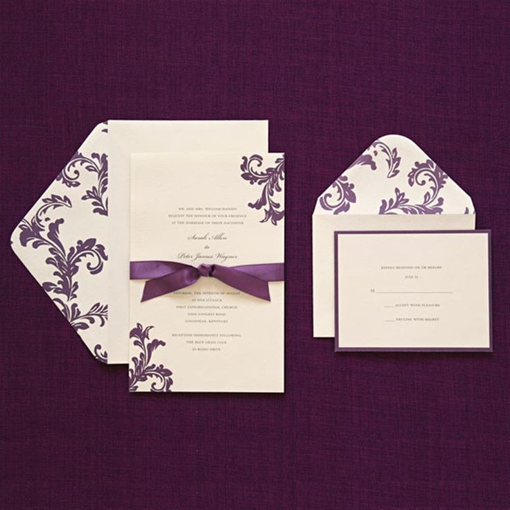 muslim wedding invitations mumbai%0A BRIDES   Purple Wedding Invitation Kit
