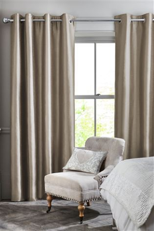 Mink Faux Silk Blackout Eyelet Curtains CurtainsFaux CurtainsUk OnlineLiving Room