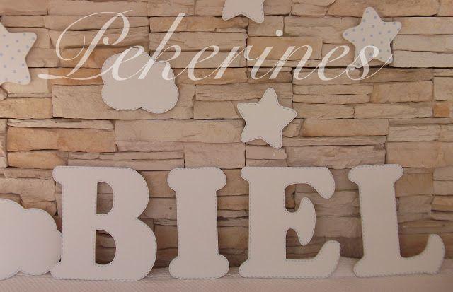 Decoraci n infantil pekerines letras de madera decoraci n - Letras habitacion bebe ...