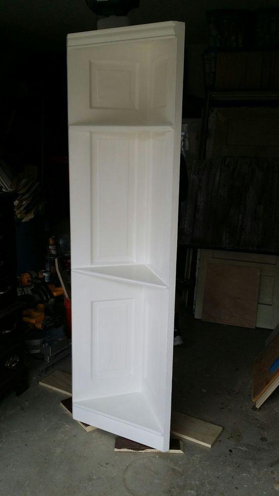 100 Yr Old Vintage 6 Panel Door Converted Into a Corner Shelf