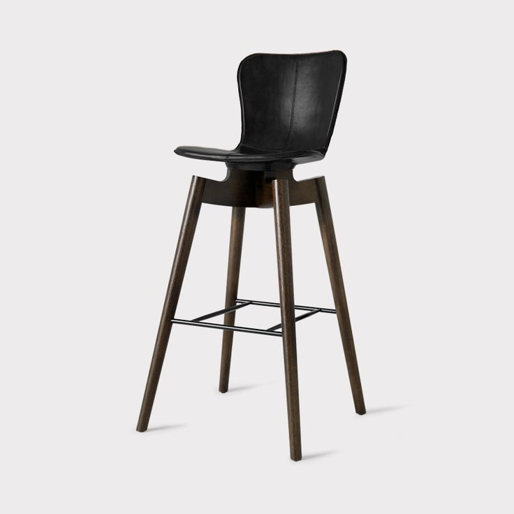 Shell Bar Stool - Black Leather Sirka Grey Oak Base Shell Bar Stool - Saddle Leather Sirka Grey Oak Base Details Design Country Denmark (made in India) ... & 262 best Stools images on Pinterest | Stools Furniture and Office ... islam-shia.org
