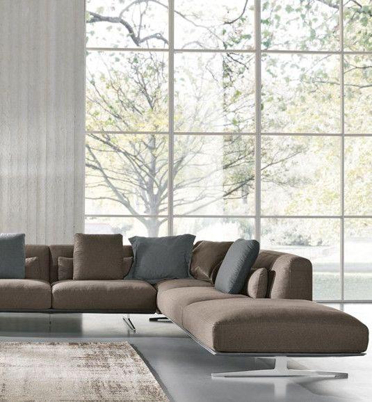 Corner fabric sofa ALBACHIARA by Max Divani