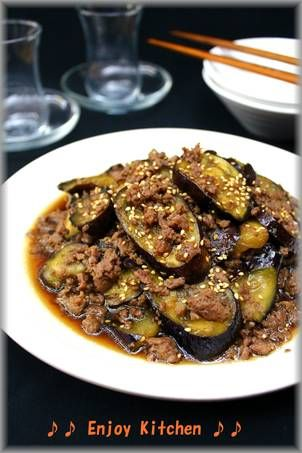Simple Ginger-flavored Fried Eggplant and Minced Meat