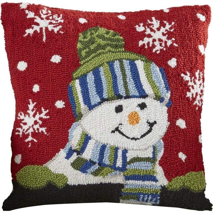 Three Posts Haggerty Snow Boy Throw Pillow Boys Throw Pillows Holiday Throw Pillow Throw Pillows