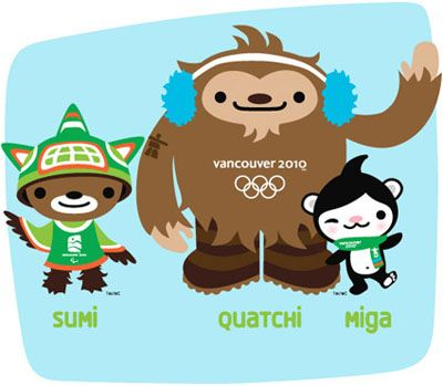 Vancouver Olympics Mascots! What in the world are they?