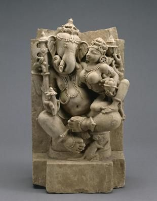Ganesh and his consort Siddhi.