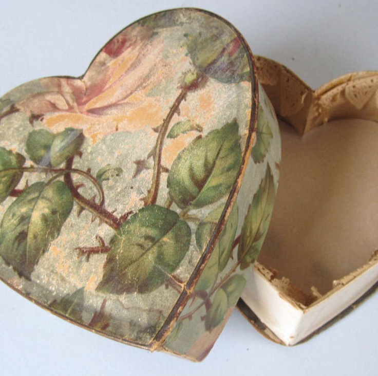 vintage paper candy box