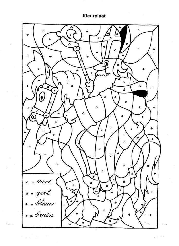 coloriage à points Saint Nicolas