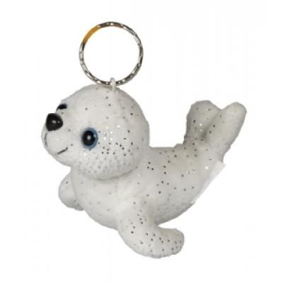 Image of Promotional Seal Keyring. Cute Soft Seal 10 cm Key Ring