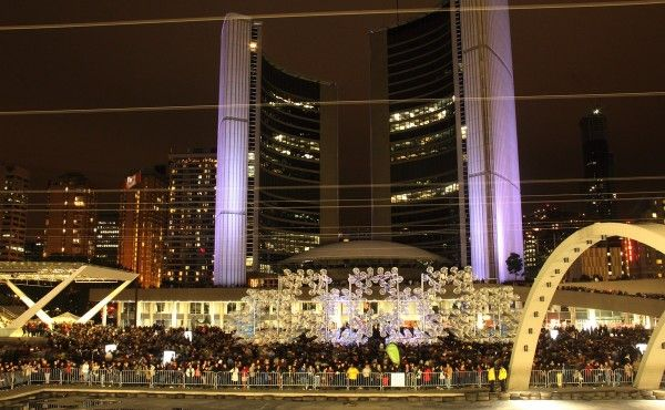 Nuit Blanche Toronto 2013: Forever Bicycles, Ai Weiwei. Installation at Nathan Phillips Sq.