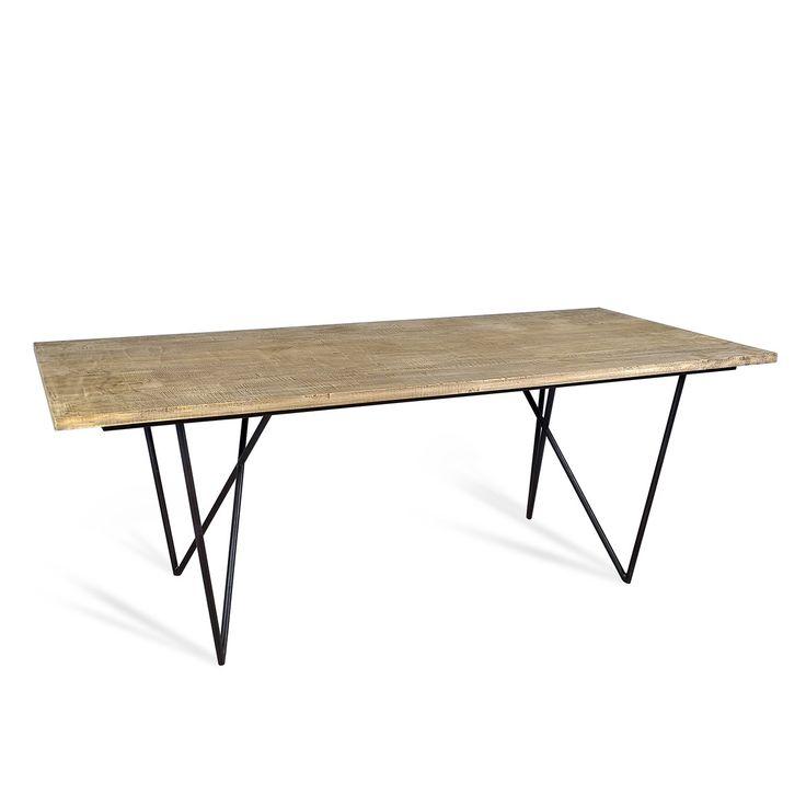 Stół z litego drewna Loft 200x90