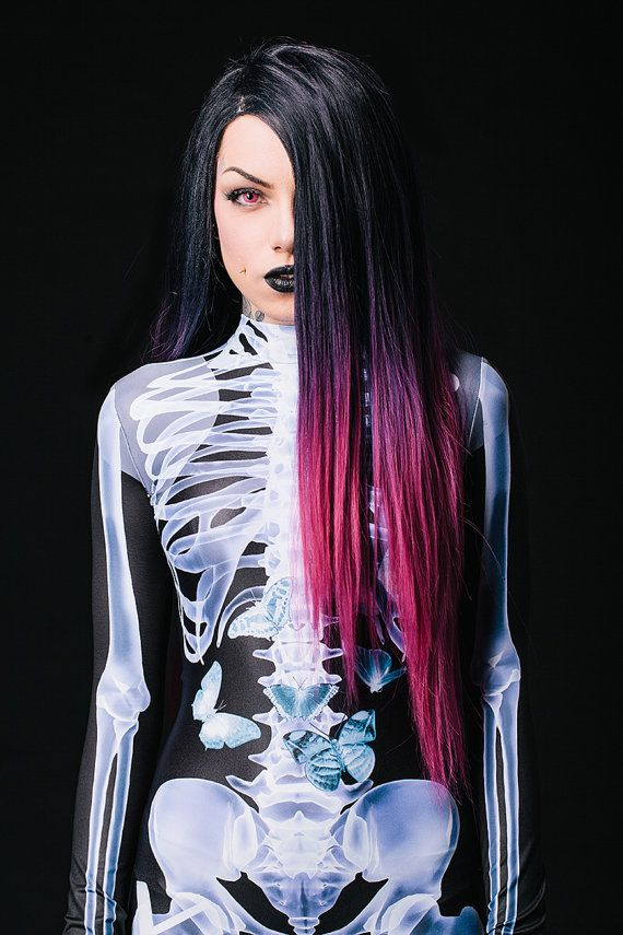 X-Ray Body Suit  Check out this ultra realistic X-ray suit! It shows every detail of the human body. Wilhelm Röntgen would love it! Oh yeah, and needless to say: It's also the absolute best skeleton costume in the world!
