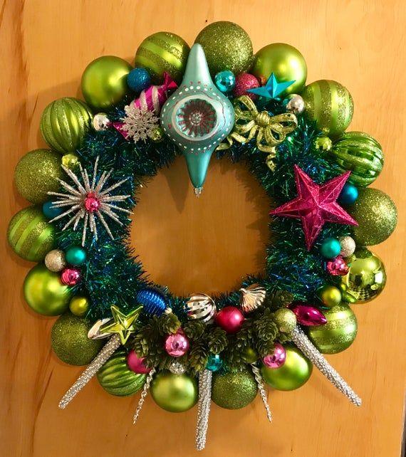 Ornament Wreath Mid Century Modern Christmas Ornament Etsy Modern Christmas Ornaments Mid Century Modern Christmas Christmas Ornament Wreath