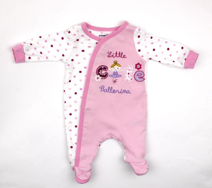 Newborn Baby Girl Pink Sleeper with Ballerina only $3.50 ...