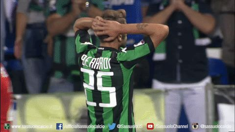 football soccer calcio serie a sassuolo u.s. sassuolo calcio neroverdi sassuolo calcio berardi domenico berardi occasione via diggita