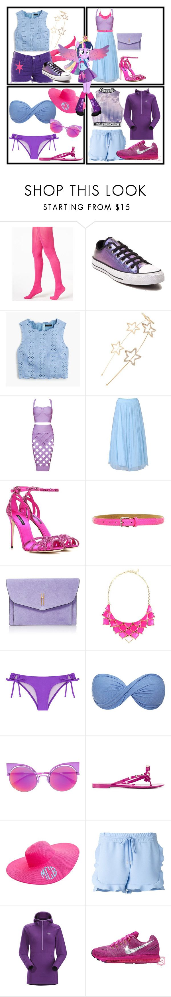 """""""Twilight Sparkle"""" by cartoonsme ❤ liked on Polyvore featuring Hue, J Brand, Converse, J.Crew, Cara, Jolie Moi, Dolce&Gabbana, Fausto Colato, Hayward and George J. Love"""