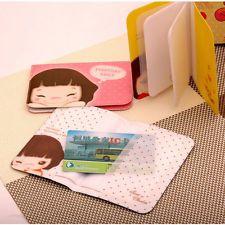 Sweet Cartoon Cooky Girl Printed Card Holder Cute Mini