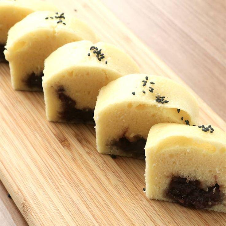 ホットケーキミックスで 蒸しあんぱん | 料理動画(レシピ動画)のkurashiru [クラシル]