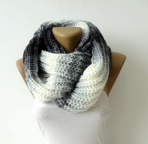 infinity knitted women scarf men scarf  loop by senoAccessory, $35.00