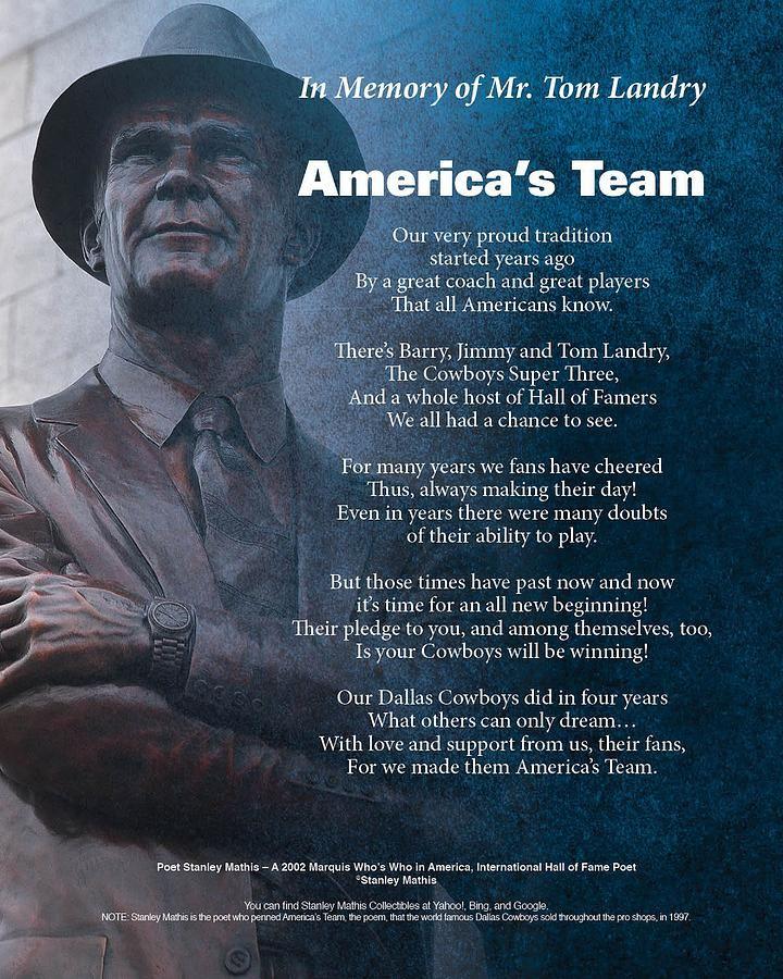 Americas Team Poetry Art Digital Art