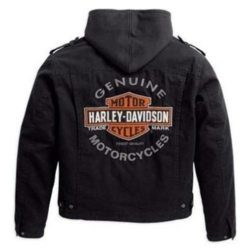White Half Mile Harley Davidson Mens Leather Jacket