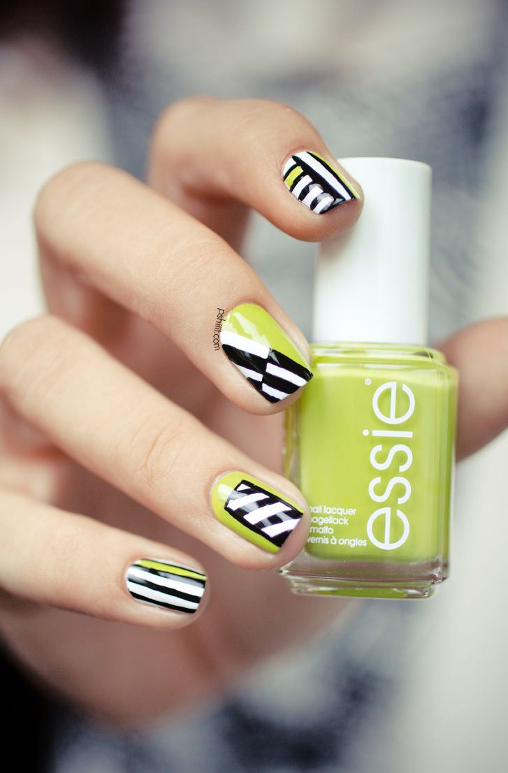Nail nail manicures and neon yellow nails on pinterest - Melange de couleur pour obtenir du beige ...