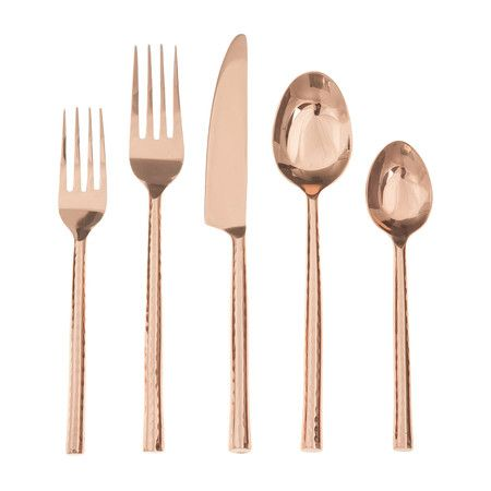 Glistening copper plated finish with stunning hammered handles. Perfect for entertaining.Features:Collection: Artisan