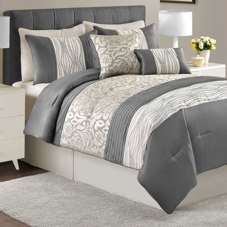 Outfit your master suite or guest bedroom in timeless style with this chic comforter set, featuring a damask pattern for versatile style.  ...