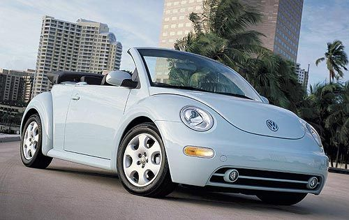 VW Bug Light Blue Convertible <3