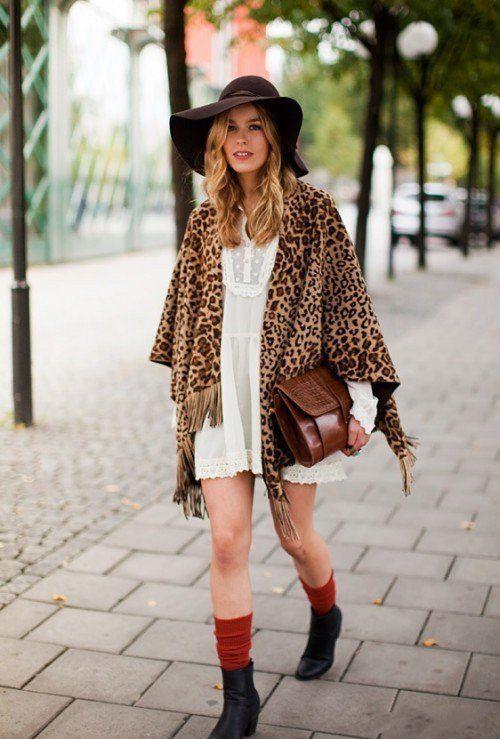 Streetstyle. Leopard print.