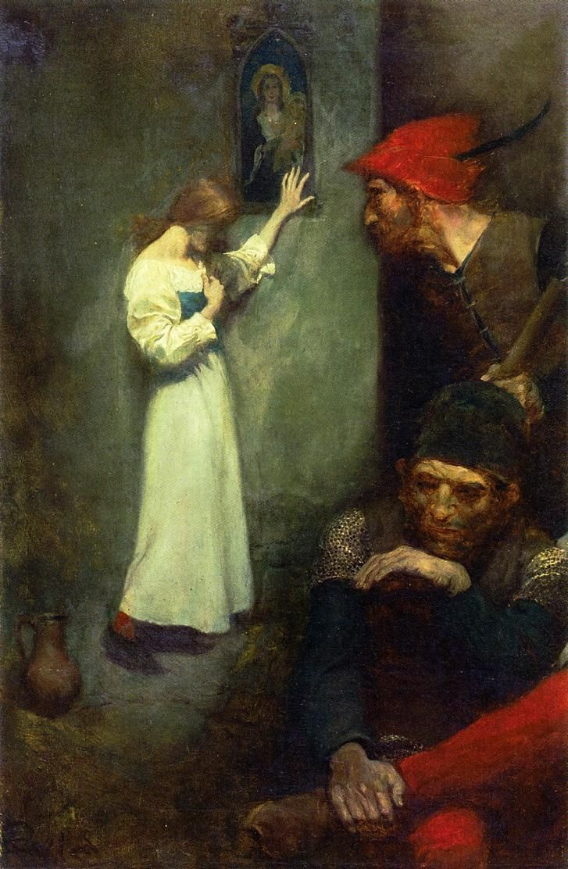 Joan of Arc in Prison, Howard Pyle. American (1853-1911)