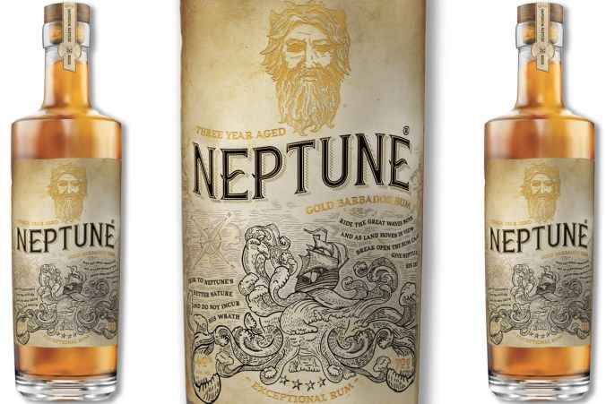 From Foursquare Distillery in Barbados, Neptune Three Year Aged Gold Barbados Rum presents authentic column and pot still spirits aged in toasted oak.